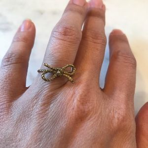 Anthropologie Bow Ring size 7